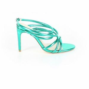 House of Harlow 1960 Green Metallic Strappy Sandal